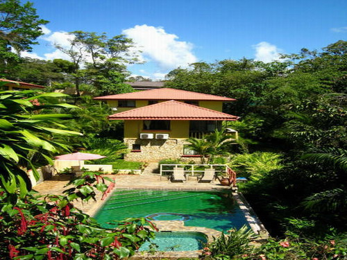 Manuel Antonio real estate, villa for sale, wild life, rental, income, 2 unit villa, pool, Jacuzzi, gated community, private, retirement opportunity, secluded, 10 minutes to Park and beaches, 5 minutes to Quepos, Costa Rica, tourism, turn key
