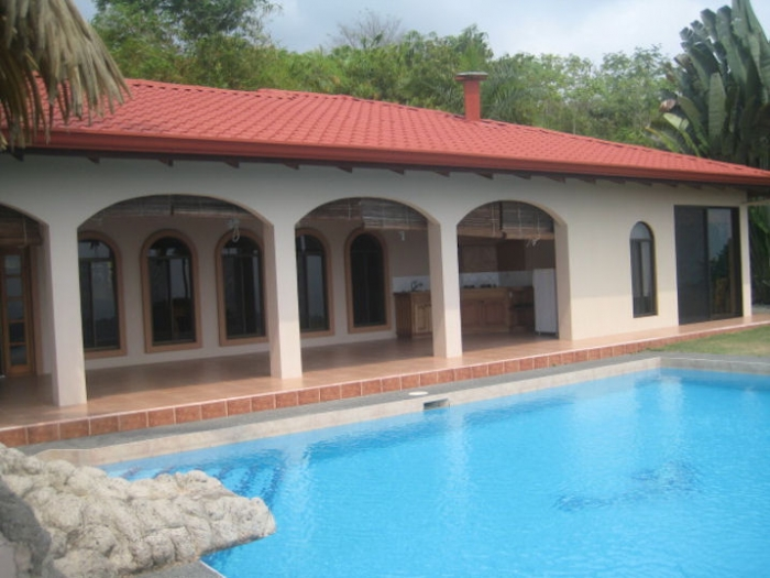 ojochal real estate, house for sale in ojochal, ocean view house, 4 bedrooms, pool, river view, retirement, vacation rental, high above ojochal, expansive views